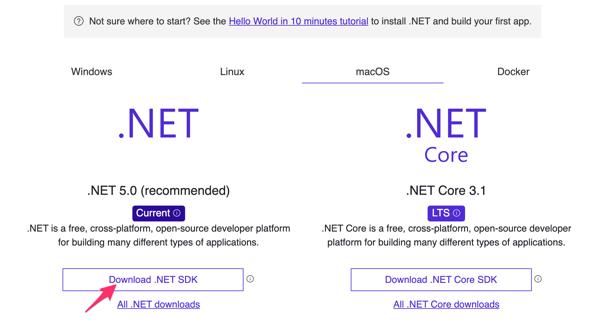 Unity × VS Code のために .Net をダウンロード